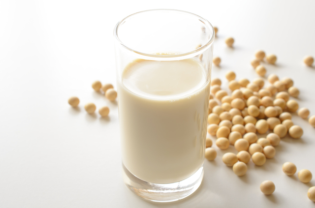 Plain soymilk